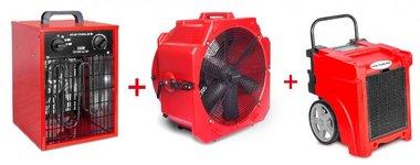 Juego de secadores BDE50 + MV500PP + Calentador 3.3kw