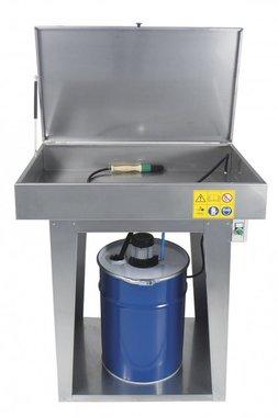 Limpiador de piezas con bomba electrica