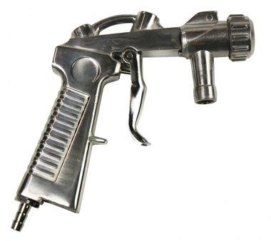Pistola para cabinas de chorro de arena