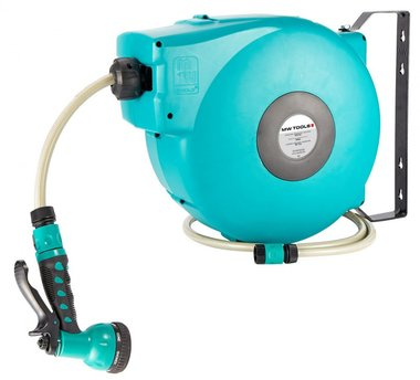 Enrollador de manguera automatico profesional y robusto para el agua