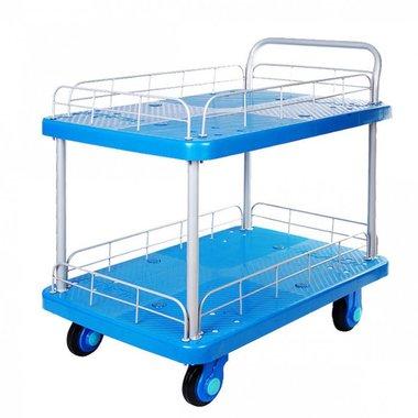 Camion de plataforma de 300kg 2 compartimentos de carga con rejillas