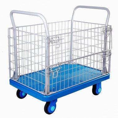 Camion de plataforma de 300 kg con jaula
