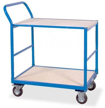 Carro de cama plana 2 estantes 250kg