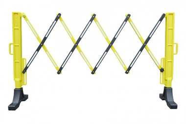Valla flexible amarilla/negra