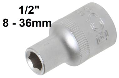 Llave de vaso hexagonal entrada 12,5 mm (1/2)