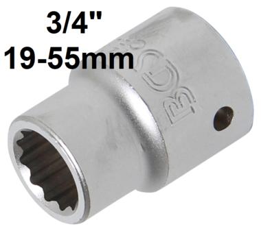 Llave de vaso 12 caras entrada (3/4) 19-55mm