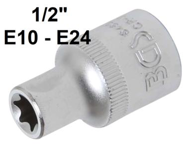 Llave de vaso E-Torx entrada (1/2) E10-E24