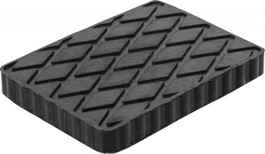 Bgs technic Rubberen pad  voor hefplatforms  160 x 120 x 20 mm