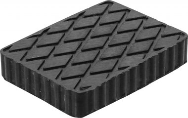 Bgs technic Rubberen pad  voor hefplatforms  160 x 120 x 30 mm