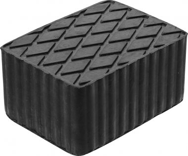 Bgs technic Rubberen pad  voor hefplatforms  160 x 120 x 80 mm