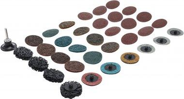 Juego de discos abrasivos / platos de lijadora 50 mm 35 piezas