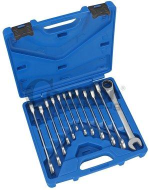Juego 12 piezas de llaves combinadas con carraca, 8-19 mm