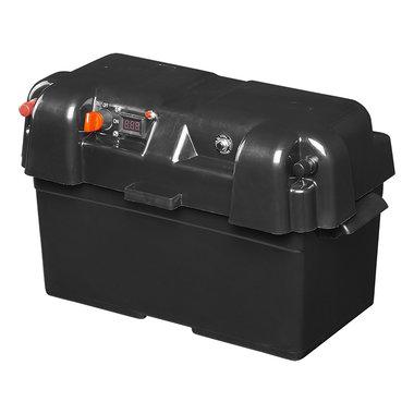 Caja de bateria 35x18x20 cm 2 USB - 1 toma a 12 V - Voltimetro