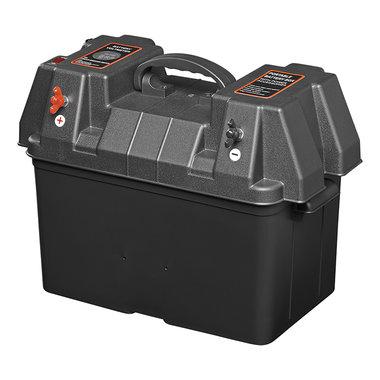 Caja de bateria 33x20x20 cm 2 USB - 2 toma a 12 V - Voltimetro