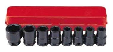 Conjunto de 8 vasos de impacto de 3/8 pulgadas