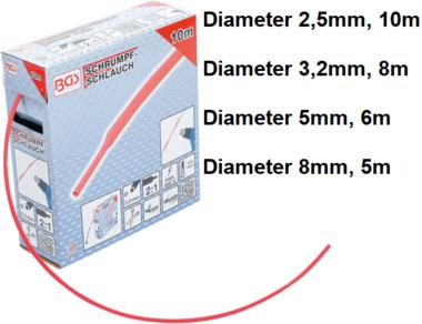 Caja de fundas termorretractiles rojo