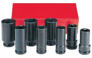 Conjunto de 8 largos vasos de impacto 3/4