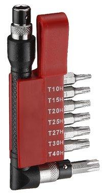 Conjunto de 8 bits Torx perforado
