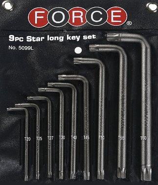 Juego de llave Torx largo macho de 9 codos