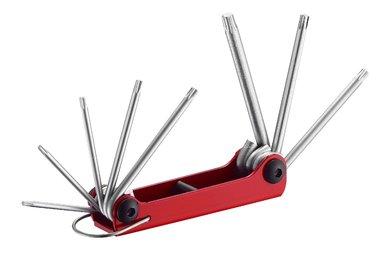 Conjunto de 8 varones llaves Torx perforados en el monte