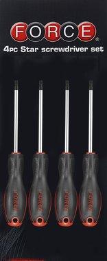 Juego de 4 destornilladores para tornillos Torx perforados