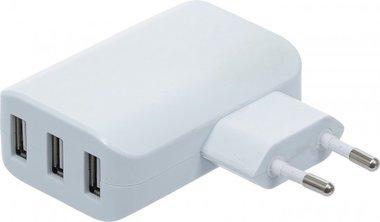 Cargador universal USB 3 puertos USB max. 3.4 A total max. 2.4 A / USB 110 - 240 V