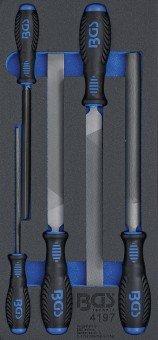 Bandeja para carro 1/3: Juego de limas para taller 5 piezas