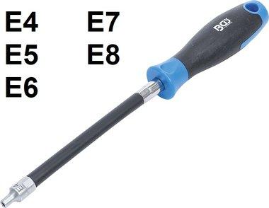 Destornillador flexible con mango redondo perfil E