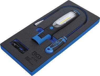 Bandeja para carro 1/3: Lampara de mano y recogedor magnetico con luz 3 piezas