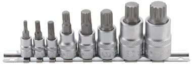 Juego de puntas de vaso dentado multiple interior (para XZN) M4 - M16 8 piezas