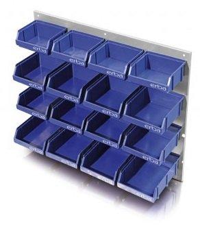 Contenedores de almacen Estanteria de pared 16 contenedores