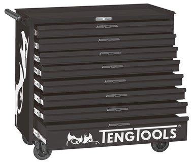Carro de herramientas negro 8 cajones