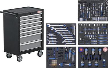 Carro de herramientas 7 cajones con 354 herramientas