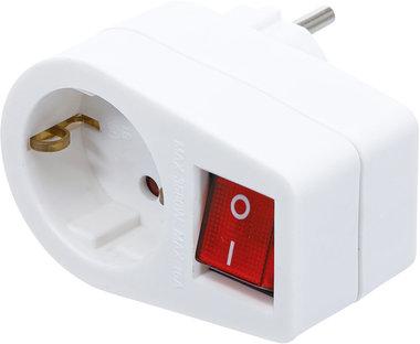Adaptador de toma de corriente con interruptor
