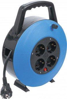 Kabelhaspelbox   10 m   3x 1,5 mm²   4 stopcontacten   IP 20   3000 W