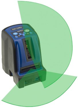 Laser de línea cruzada 2 lineas con luz laser verde