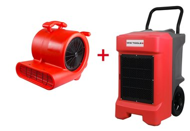 Pack BDE95 secador de construccion y ventilador de piso RV3000