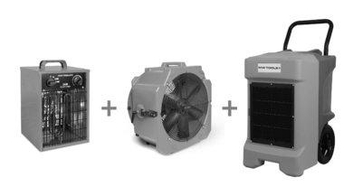 Paquete de secadora BDE95 + ventilador MV500PPL + soplador de aire caliente WEL33