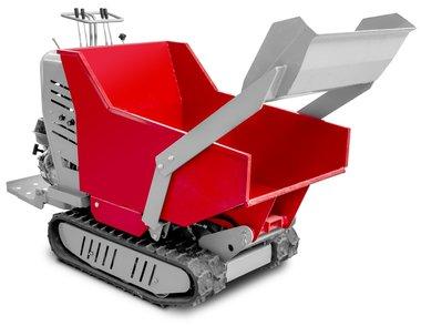 Mini dumper hidrostatico de oruga con caja de carga de 500 kg