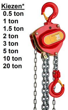 Polipasto de cadena manual 0,5t - 20t