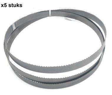 Hojas de sierra de cinta bi-metal M42 - 27x0.9-2480mm, Tpi 10-14 x5 stuks