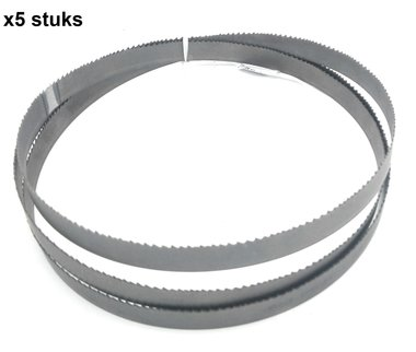 Hojas de sierra de cinta hss - 13x0.65,1470mm - dientes fijos, dientes -14 x5 stuks