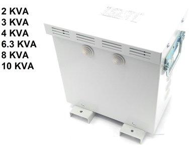 Transfo 3x220V a 3x400V con carcasa