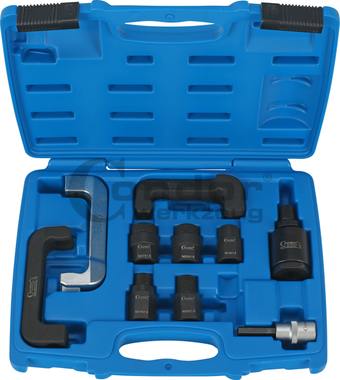 Juego de adaptadores de gancho y rosca para inyectores diesel, 10 piezas