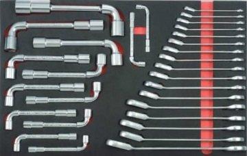 Juego de llaves angulares y de engranajes reversibles (EVA) 30 piezas