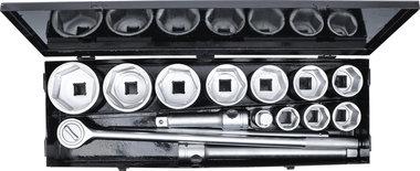 Juego de llaves de vaso entrada 25 mm (1) 36 - 80 mm 15 piezas