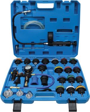 Test de presion del radiador incl. sistema de llenado 28 piezas