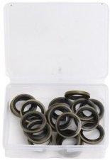 Surtido de anillos de tapón del carter de goma de 16 mm 20 piezas