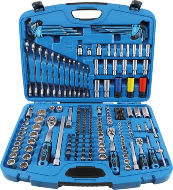 Juego de llaves de vaso Gear Lock entrada 6,3 mm (1/4) 10 mm (3/8) / 12,5 mm (1/2) 218 piezas