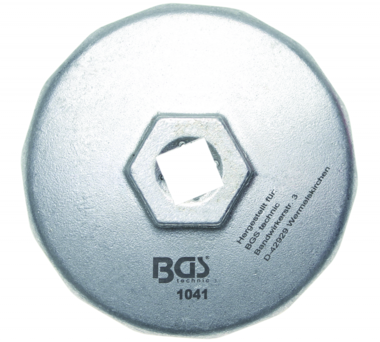 Cazoleta para filtros de aceite 14 caras diametro 74 mm
